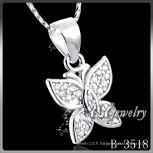 Pendentif papillon argent 925 Fashion (B-3518)