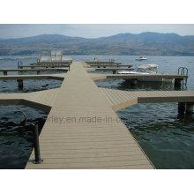 WPC en bois massif en composite en plastique / plancher stratifié