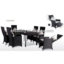 New Style Rattan dinning chair and table for restaurant
