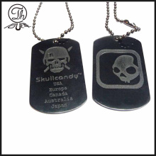 Black Skullcandy dog tag name maker