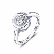 925 Silver Rings Jewelry Dancing Diamond Wholesale