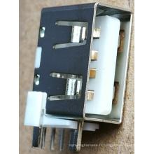 Connecteur 4A DIP USB2.0 courant 4A un connecteur femelle pour l'adaptateur d'alimentation, banque de puissance
