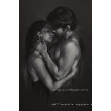 Moderne abstrakte Mann und Frauen Nackte Malerei