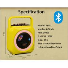 Портативный беспроводной мини-динамик Bluetooth с цветной крышкой и ручкой для инъекций F105