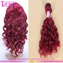 Новые прибытия красные волосы плести высокой моды красные волосы 8А класса высокого качества красный человеческие волосы плетение