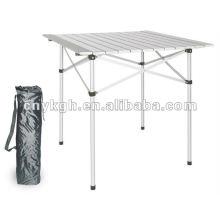 Mesa de campismo dobrável de alumínio