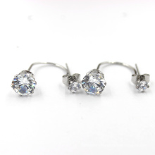 Costume Jewelry Stainless Steel Alloy Silver Earring