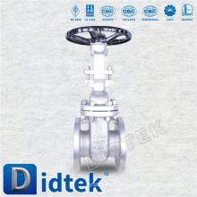 Didtek Acero fundido con brida DIN Válvula de compuerta estándar con manivela