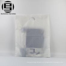 Plain clear patch handle sacolas plásticas