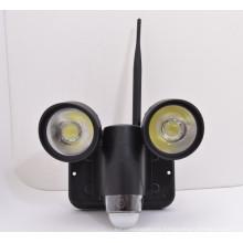 Nueva alarma de detección de movimiento que sigue la cámara encubierta de la luz del pir para el sistema de seguridad casero