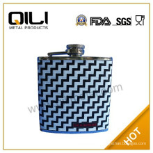 18/8 304 FDA and LFGB high quality usa 4oz fabric wrapped stainless steel hip flask