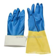 Gant de latex et de néoprène Gant de travail résistant aux produits chimiques