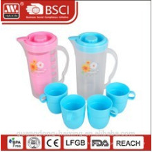 plastic water kettle 1.7L with 4 cups