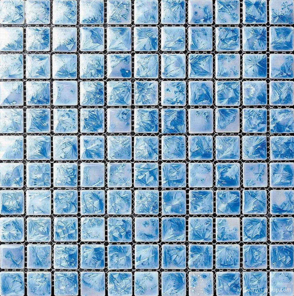 Blue Glazed Transforming Mosaic Tile