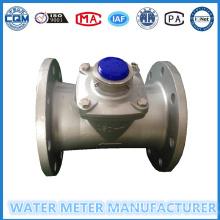 Medidor de fluxo de água Turbin em corpo de aço inoxidável Shell Dn50-200