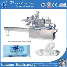Máquinas de empacotamento automáticas dos tecidos das limpezas molhadas do descanso feito sob encomenda da série de Dwb Fabricação