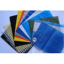 with eyelet PE tarpaulin finish products