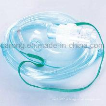 Máscara de oxigênio medicinal com nebulizador para hospital usado