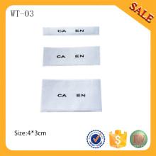 WT-03 2016 Logo personnalisé bon marché étiquette de bras tissée / col