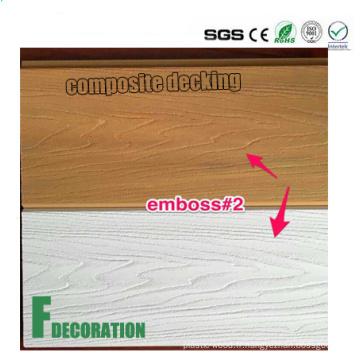Plancher extérieur composé en plastique en bois de Co-Extrusion WPC