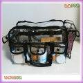 Grande capacidade de PVC saco de maquiagem transparente profissional (sakmb001)