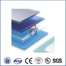 Hoja hueca del policarbonato de la pared gemela de 5m m, material de la hoja del policarbonato