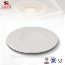 Wholesale wedding crockery items, white porcelain plate