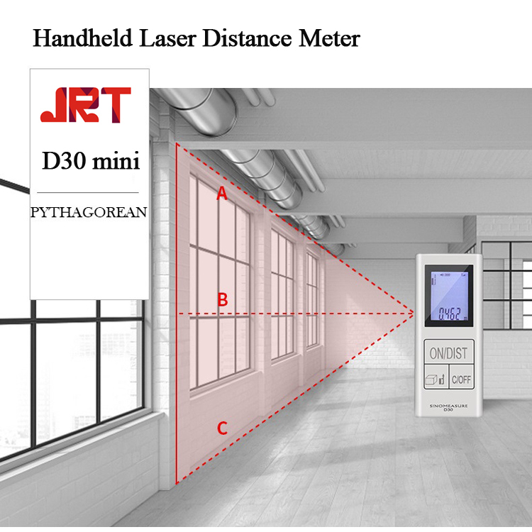 30m Laser Distance Meter Pythagorean theorem Measurement