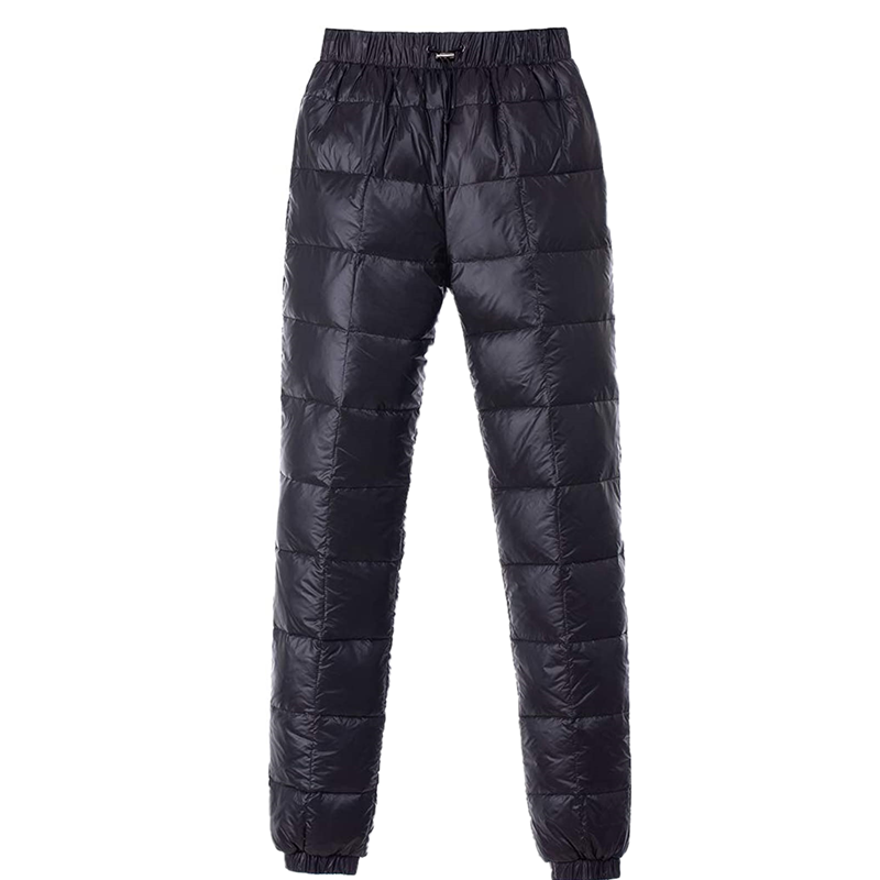 Men S Women Winter Warm Utility Down Pants Sassy High Waisted Nylon Compression Snow Trousers