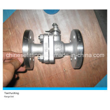 2PC Manual ANSI Flanged CF8m Stainless Steel Floating Ball Valve