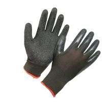 13G Polyester Black Latex Coated Work Glove