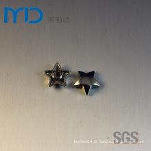 Atacado Moda Metal Round Star forma rebites para sacos, camisolas e sapatos