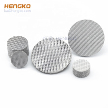 Multi-layer 5 10 20 40 micron sintered stainless steel 316L wire mesh filter disc