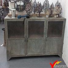 3 Portas Rivet Antigo Envelhecido Vintage Industrial Metal Armário