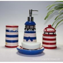 Fashionable and cheap tower shape ceramic bathroom set