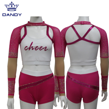 High School Cheer Girl Cheerleading Uniform
