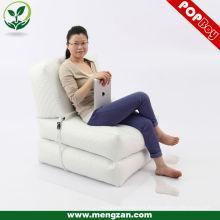 Faux cuero plegable seccional lounger cushion bean bag