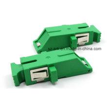 Sc / APC Unibody obturador de fibra óptica adaptador