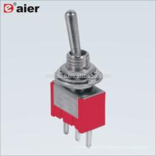 MTS-112 6A 125V ON-ON Interruptor de palanca con resorte SPDT 3Pin