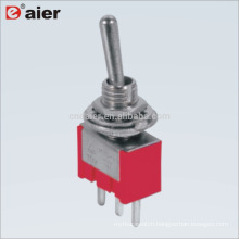 MTS-112 6A 125V ON-ON Spring Loaded SPDT Toggle Switch 3Pin