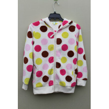 100%POLYESTER CORAL FLEECE GIRL`S JACKET