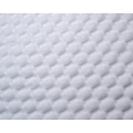 Bubble White Color Polyester Fabric