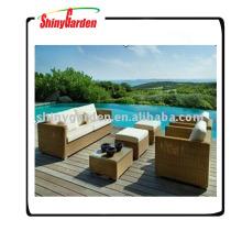 meubles extérieurs de rotin de canapés de luxe, sofa utilisé de rotin à vendre, sofa en rotin synthétique