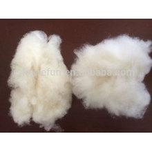 100% reine kardierte und enthaarte Wollfaser