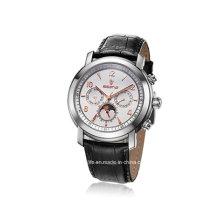 Многофункциональный кожаный ремешок Классические мужские наручные часы