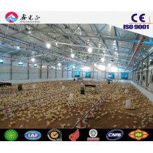 Куриные фермы / стальные конструкции птичьего дома с оборудованием (JW-16252)