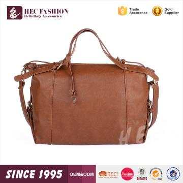 HEC Logo Printed Fashion Canvas PU Material Portable Ladies 1 ton tote bags