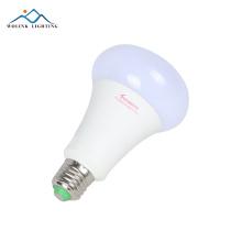 Economia de energia e27 e14 9 w alumínio Warm white filament energy led bulbo de vela de vidro transparente