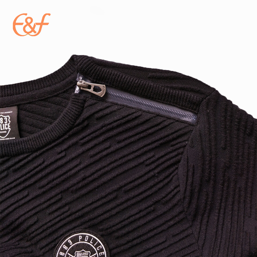 New design zip on shoulder sweater