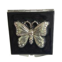 Mirroir de maquillage noir papillon